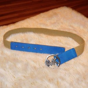 MICHAEL KORS Blue Leather Belt *AUTHENTIC*